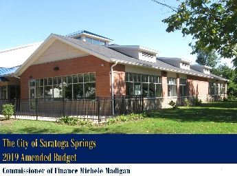 2019 Amended Budget Title Image Showing Recreation Center