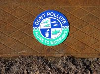 Do Not Pollute Water Flows to Waterways Logo